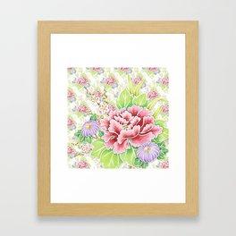 Kimono Summer Bouquet Framed Art Print