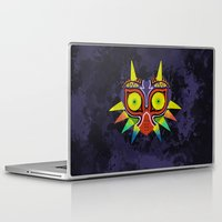 majoras mask Laptop & iPad Skins featuring Majora's Mask Splatter by Greytel