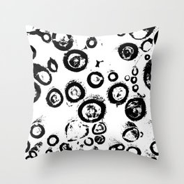 """Patterns of Nature""  Logs in Black and White at Veroce, Hungary Throw Pillow"