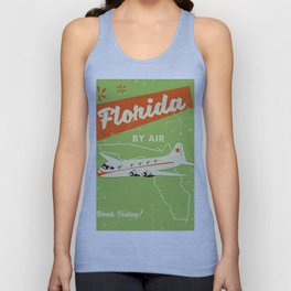 Florida By air - vintage travel poster Unisex Tank Top