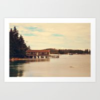 The Boathouse Art Print