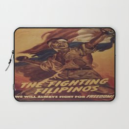Vintage poster - The Fighting Filipinos Laptop Sleeve