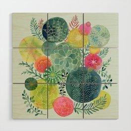 Succulent Circles Wood Wall Art