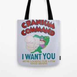 Cranium Command Recruitment Sign Tote Bag