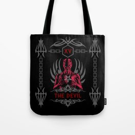The Devil XV Tarot Card Tote Bag