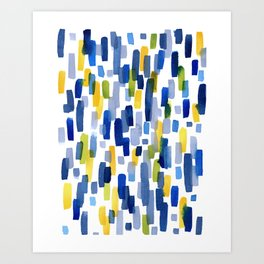 Blue Sky and Sunshine Abstract Watercolor Painting Art Print