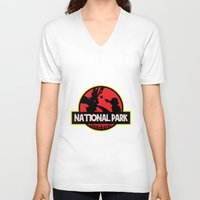 the national V-neck T-shirts featuring National Park by EnoLa