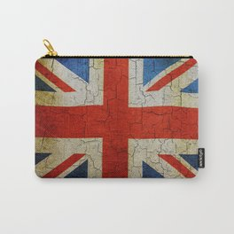 Vintage United Kingdom flag Carry-All Pouch