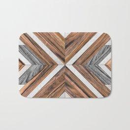 Urban Tribal Pattern No.4 - Wood Bath Mat
