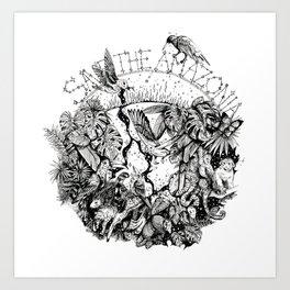 Rainforest animals Art Print