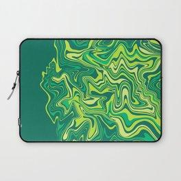 Liquid Green Agate Slice Laptop Sleeve