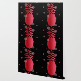 Tropical Red and Black Wallpaper