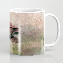 Painterly Pink Rose Bud Coffee Mug