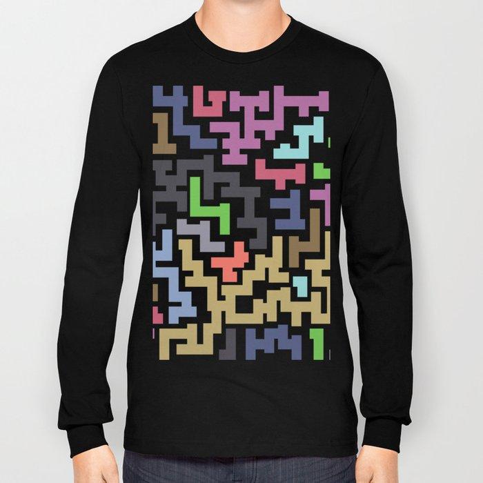 Colorful Maze III Long Sleeve T-shirt