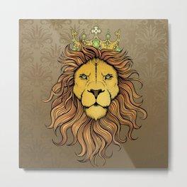 King Lion Metal Print