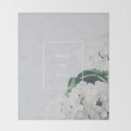 Peace, Be Still Throw Blanket
