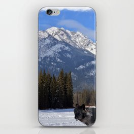 """Banff Wolf in Winter with Mt Cascade"" iPhone Skin"