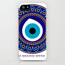 Don't you sleep a wink Nazar Boncuk iPhone Case