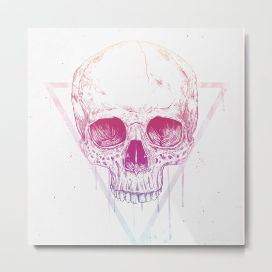 Skull in triangle Metal Print