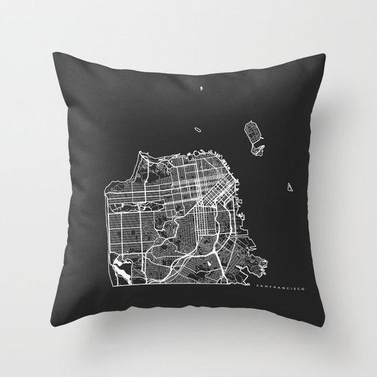 Decorative Pillows San Francisco : SAN FRANCISCO Throw Pillow by Nicksman Society6