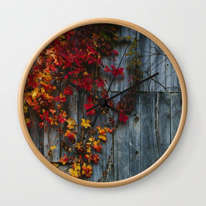 Barn Vines Wall Clock