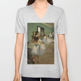 """Edgar Degas """"The dance class"""" Unisex V-Neck"""