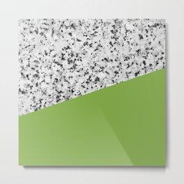 Granite and greenery color Metal Print