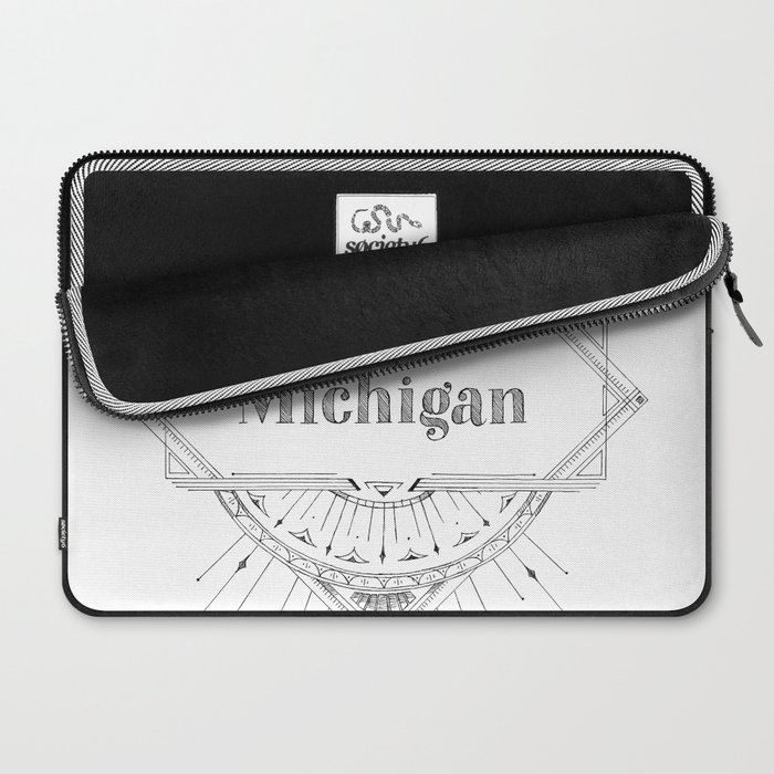 Art Deco Michigan Laptop Sleeve