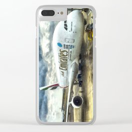 Emirates A380 Airbus Art Clear iPhone Case