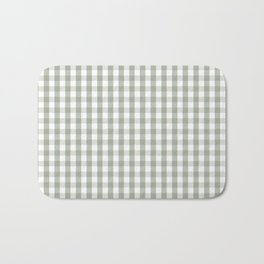 Desert Sage Grey Green and White Gingham Check Badematte