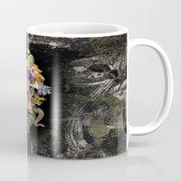 animal skull Mugs featuring ANIMAL SKULL by sametsevincer