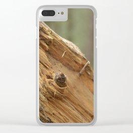 broken tree Clear iPhone Case