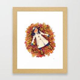 Fall love Framed Art Print