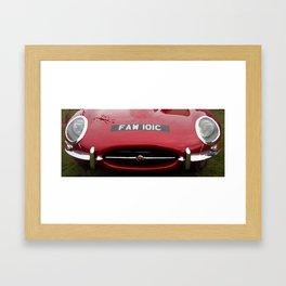 JAGUAR E TYPE - CARS Framed Art Print