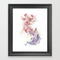 Flight of Bats Framed Art Print