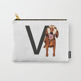 V is for Vizsla Carry-All Pouch