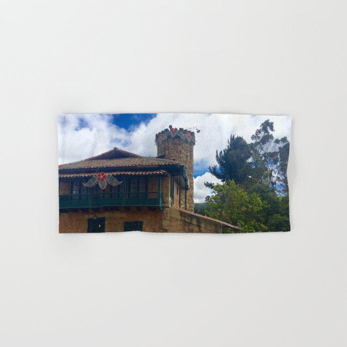 Mount Monserrate at Christmastime Maybe, Bogota, Colombia Hand & Bath Towel