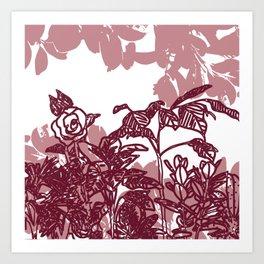 DRAWN PLANTS Art Print