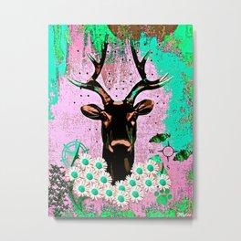 Deer Abstract Metal Print