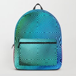 Colourful Circles Background Backpack