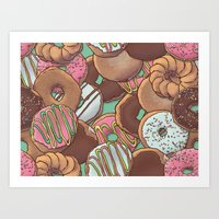 donuts Art Prints featuring Donuts by Mario Zucca
