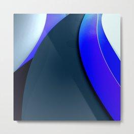 Black and Blue Modern Metal Print