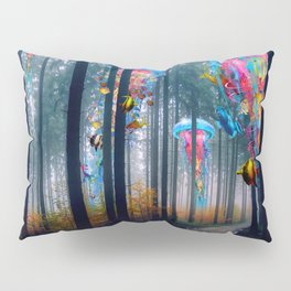 Forest of Super Electric Jellyfish Worlds Pillow Sham