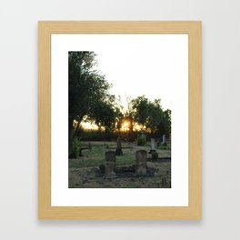 Looper's Cemetery 6 Framed Art Print
