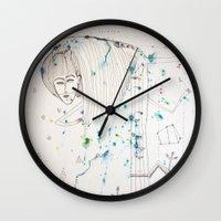 fairy tale Wall Clocks featuring Fairy Tale by KSKS
