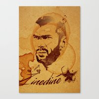 zidane Canvas Prints featuring Zidane by Colo Design