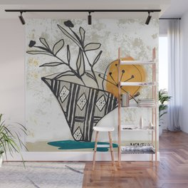 Still Life with Pattern Vase Wall Mural