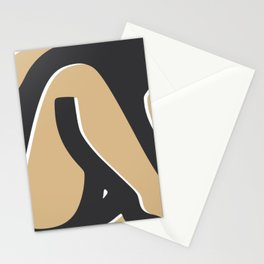 Summer tanned nude Stationery Cards