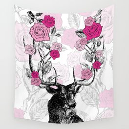 The Stag and Roses Wall Tapestry