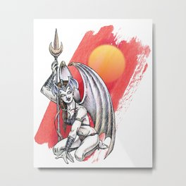 Winged Warrior Fairy Metal Print